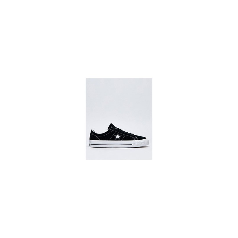 One Star Pro Shoes in Black/White/White by Converse