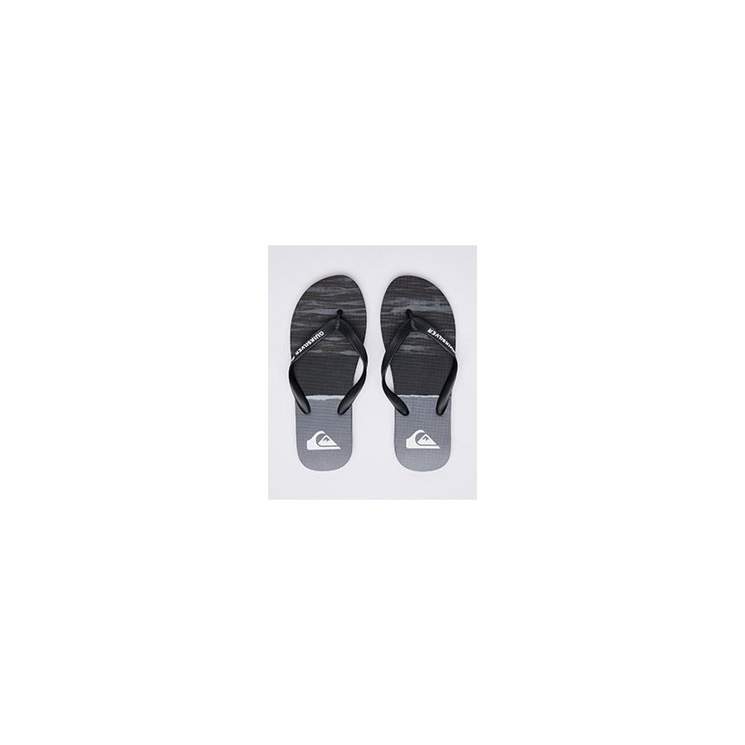 "Molokai Omni Arch Thongs in ""Black/Grey/Red""  by Quiksilver"