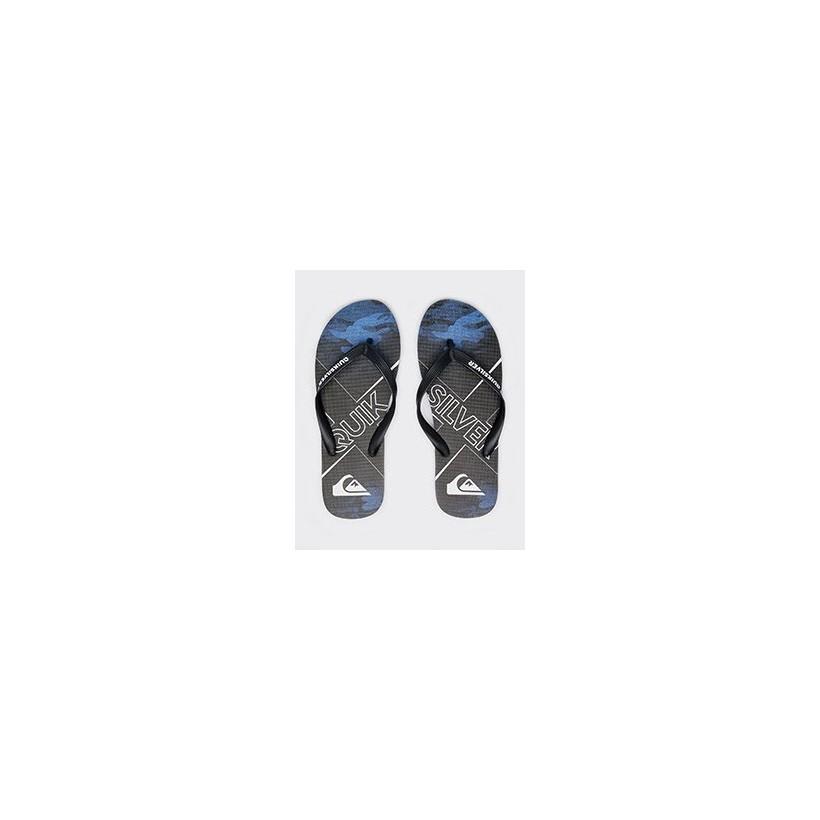 Bullseye II Thongs in Black/Blue/Black by Quiksilver