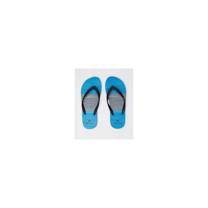 "Splice Thongs in ""Black/Blue""  by Rip Curl"