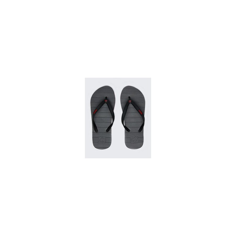 """Switchfoot Thongs in """"Grey/Red Stripe""""  by Reef"""