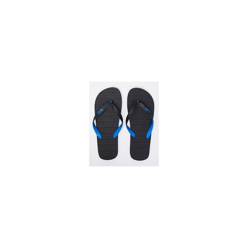 Elite V6 Thongs in Black/Blue by Lucid