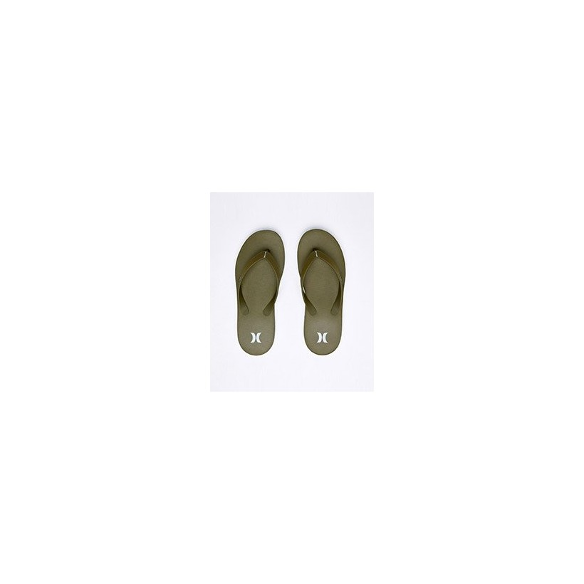 "One & Only Sandal in ""Olive Canvas/White-Topal""  by Hurley"