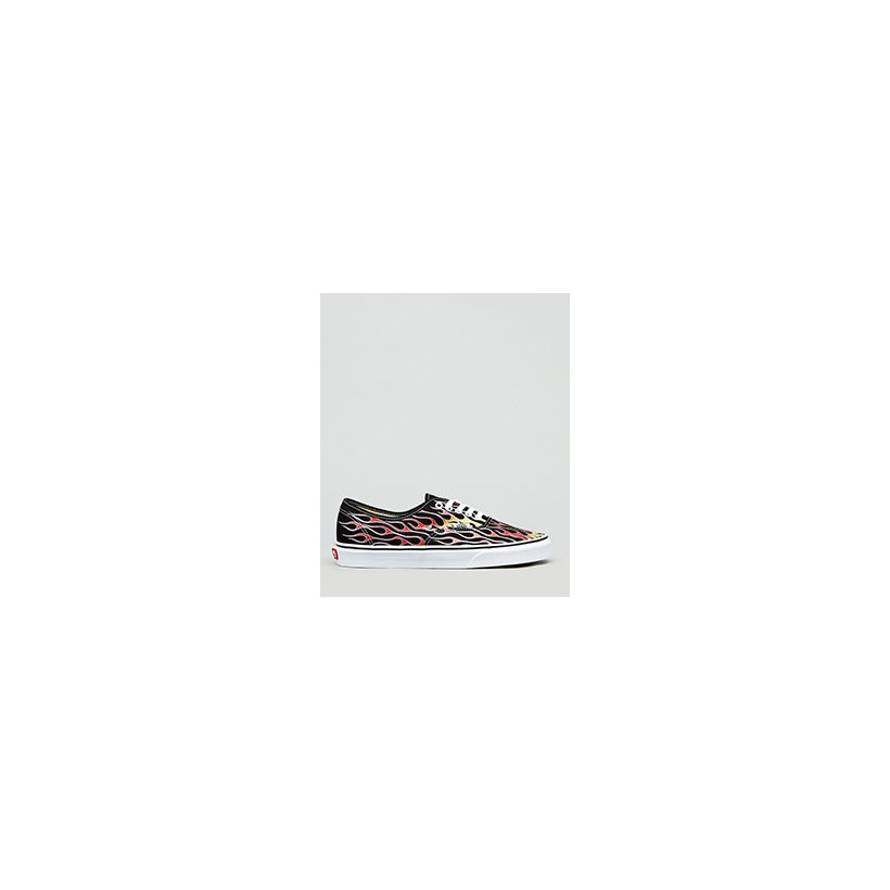 Authentic Flame Shoes in Flames Black/True White by Vans