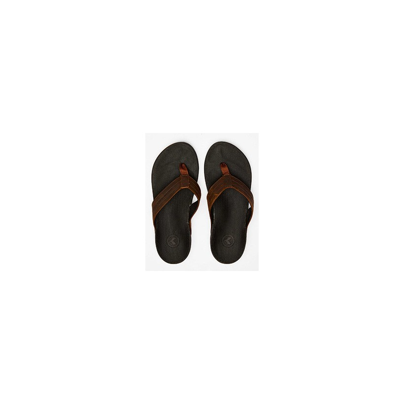 "Cruiser Thongs in ""Black/Brown""  by Kustom"