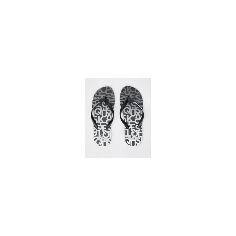 "Molokai Thongs in ""Black/Grey/Grey""  by Quiksilver"