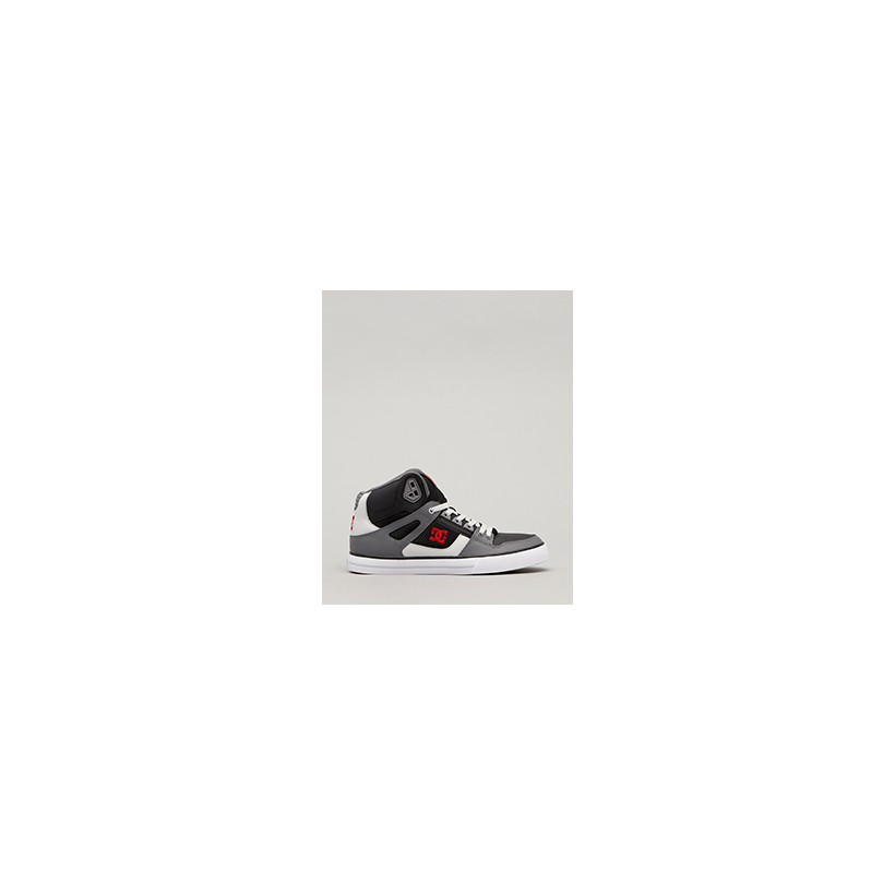 "Pure High-top WC Shoes in ""Black/Grey/Red""  by DC Shoes"