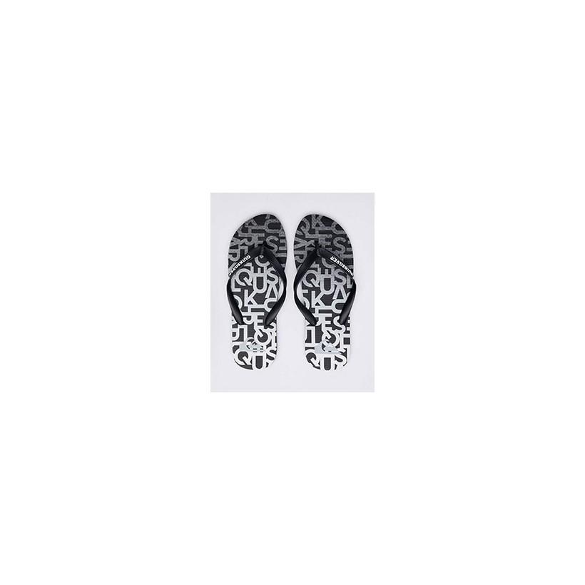 "Molokai Random Thongs in ""Black/Grey/Grey""  by Quiksilver"