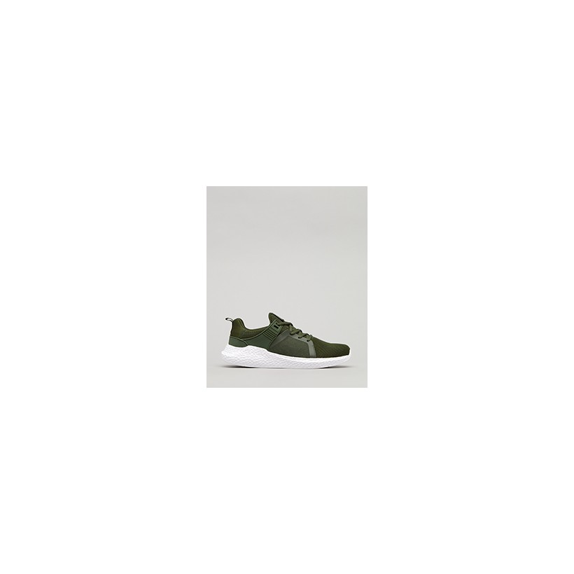 """Salvage Shoes in """"Olive/White""""  by Lucid"""