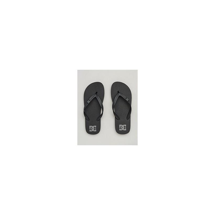 "Spray Thongs in ""Black/Dk Grey""  by DC Shoes"