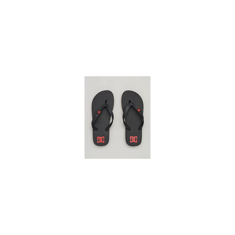 "Spray Thongs in ""Black/Red/Black""  by DC Shoes"