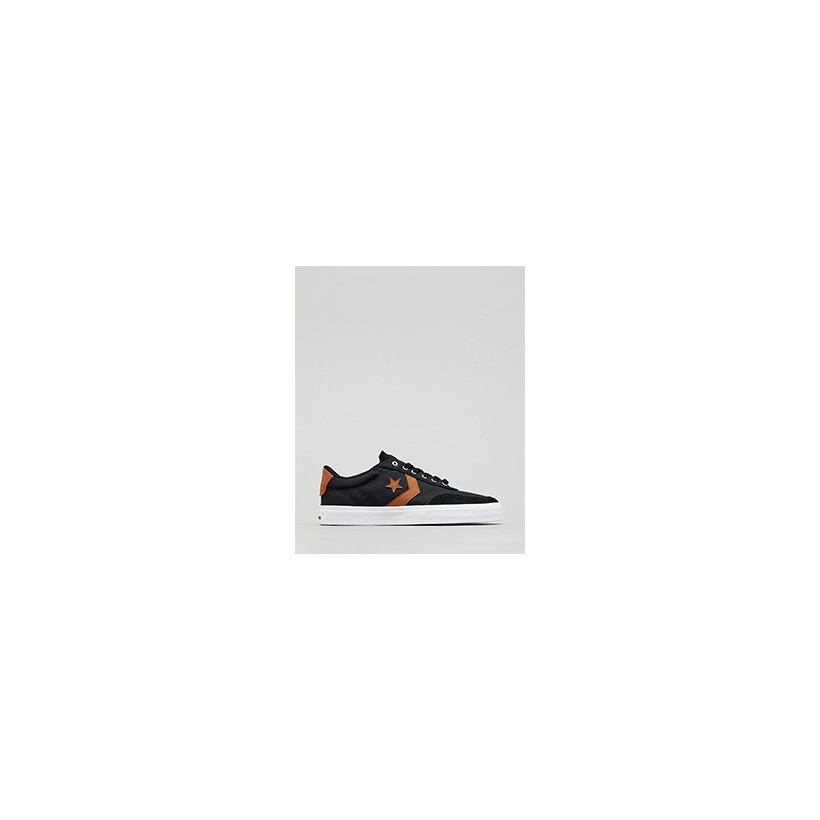 """Courtland Shoes in """"Black/Warm Tan/White""""  by Converse"""
