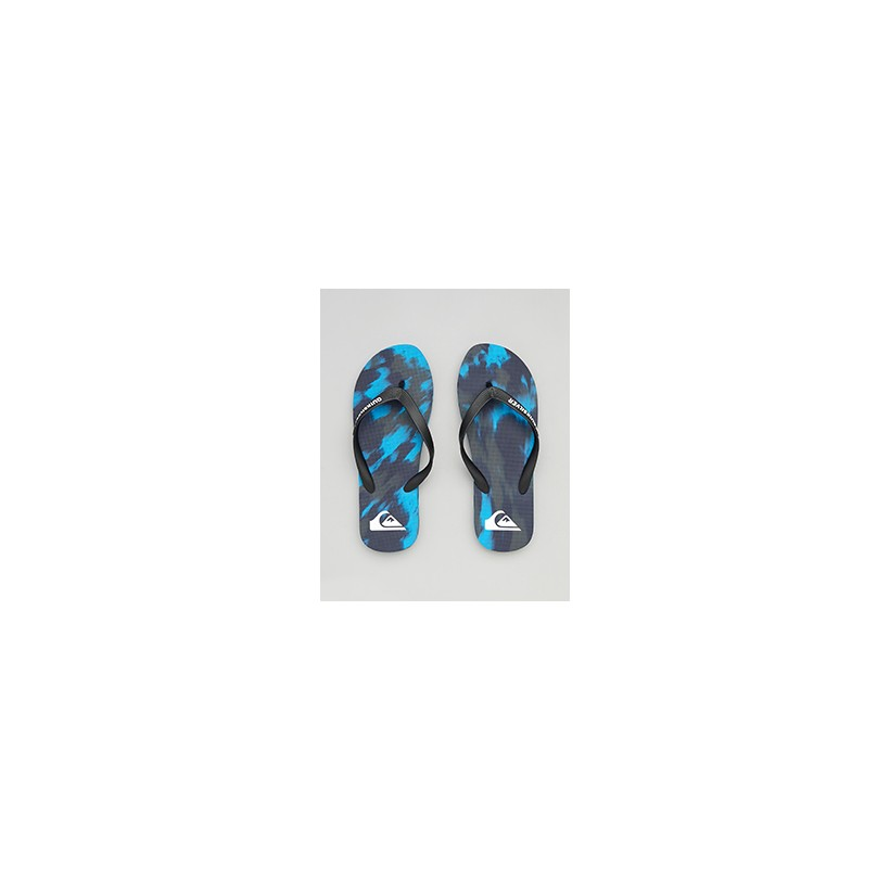 "Molokai Marled Thongs in ""Black/Blue/Grey""""Black/Grey/Black""  by Quiksilver"