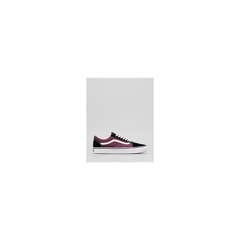"""Comfycush Old Skool Shoes in """"(Sport)Black/Prune/True W""""  by Vans"""