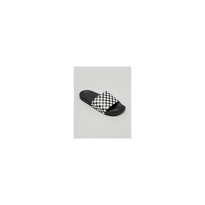 """Mn Slide On Check Slides in """"Checkerboard White""""  by Vans"""
