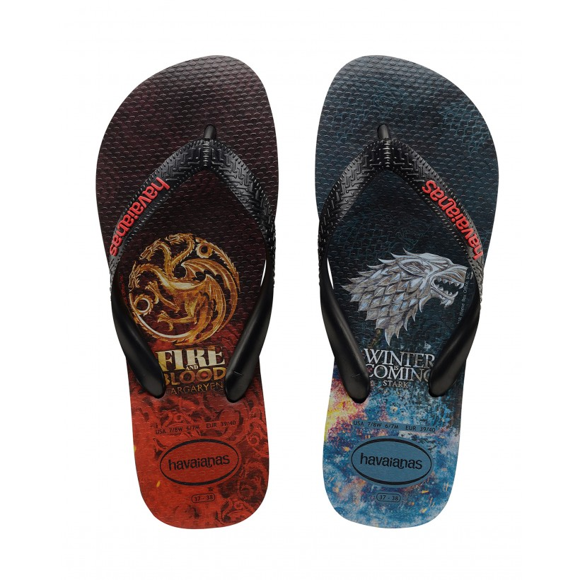 "Game Of Thrones Thongs in ""Black""  by Havaianas"