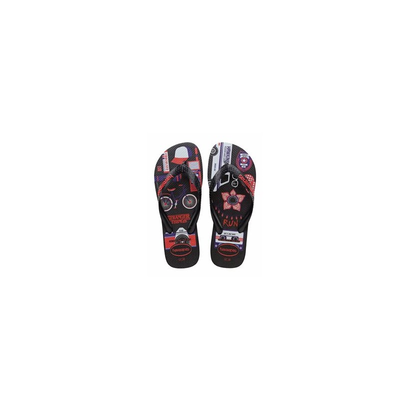 Netflix Stranger Things Thongs in Black by Havaianas