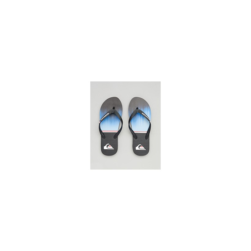 """Molokai Division Thongs in """"Black/Blue/Black""""  by Quiksilver"""