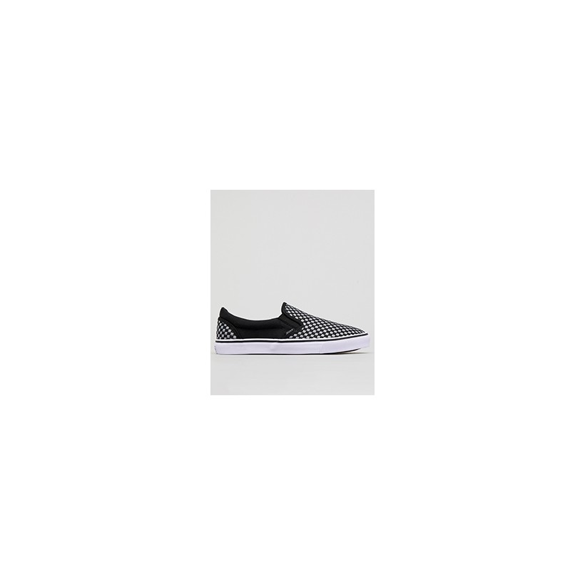 "Weavel Slip-On Shoes in ""Black/Grey Check""  by Jacks"