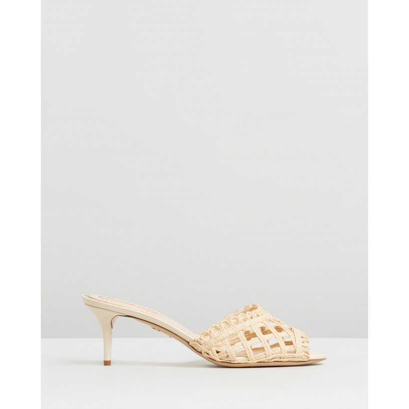 Lola Sandals Natural Raffia by Charlotte Olympia