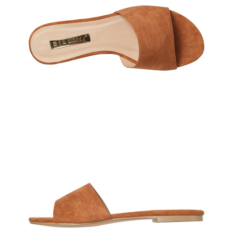 Womens Ipanema Slide Chesnut Suede By BILLINI