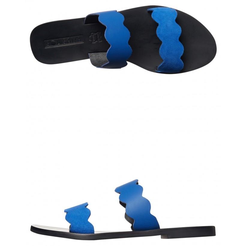 Womens Wave Slide Cobalt By SOL SANA