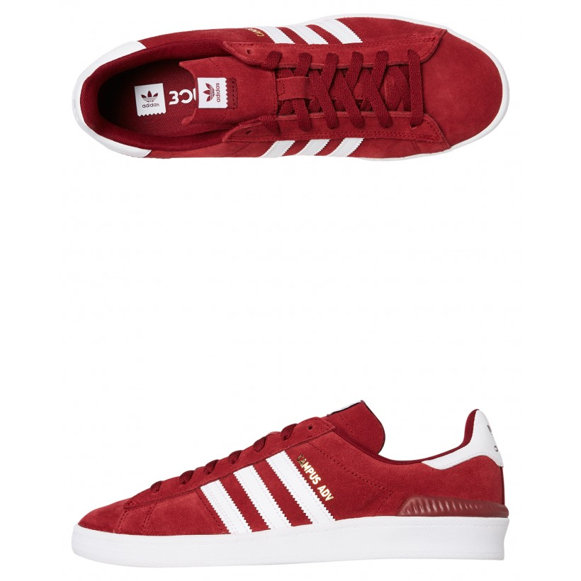 Womens Campus Adv Shoe Collegiate Burgundy By ADIDAS