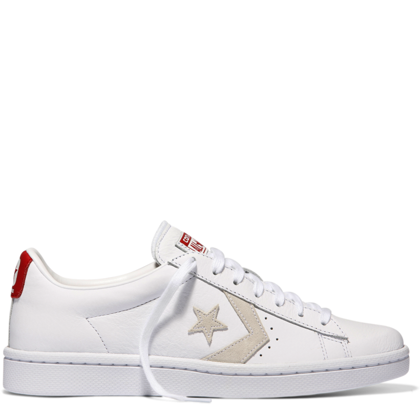 Pro Leather Low Top White-Varsity Red