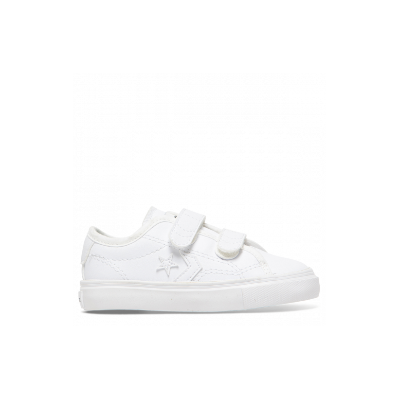 Star Replay Back To School 2V Toddler Low Top White Mono