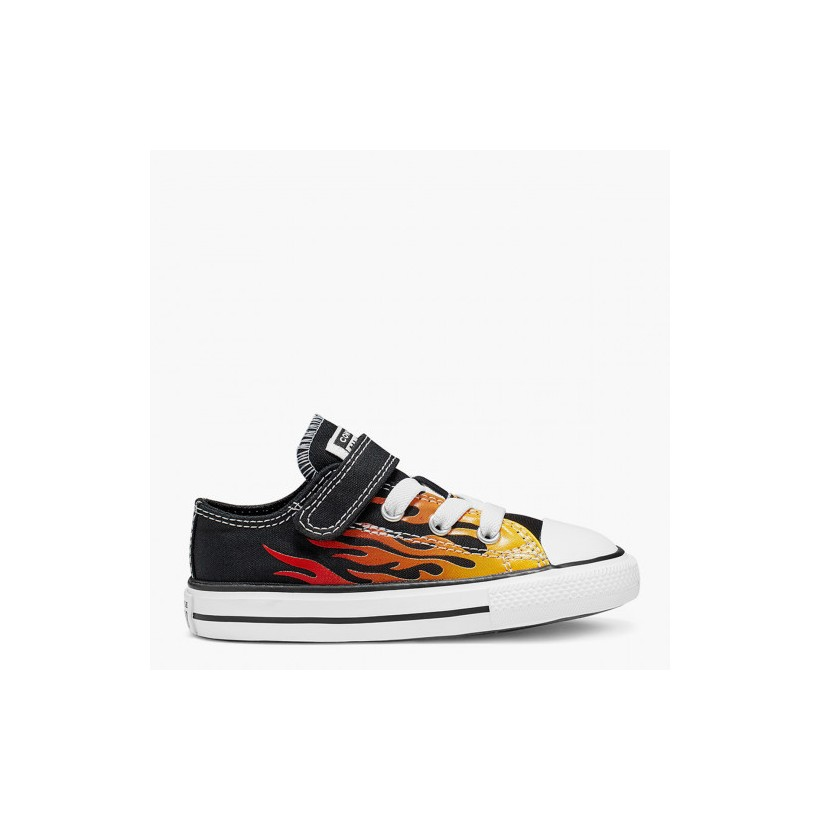 Chuck Taylor All Star Archive Flame 1V Toddler Low Top Black