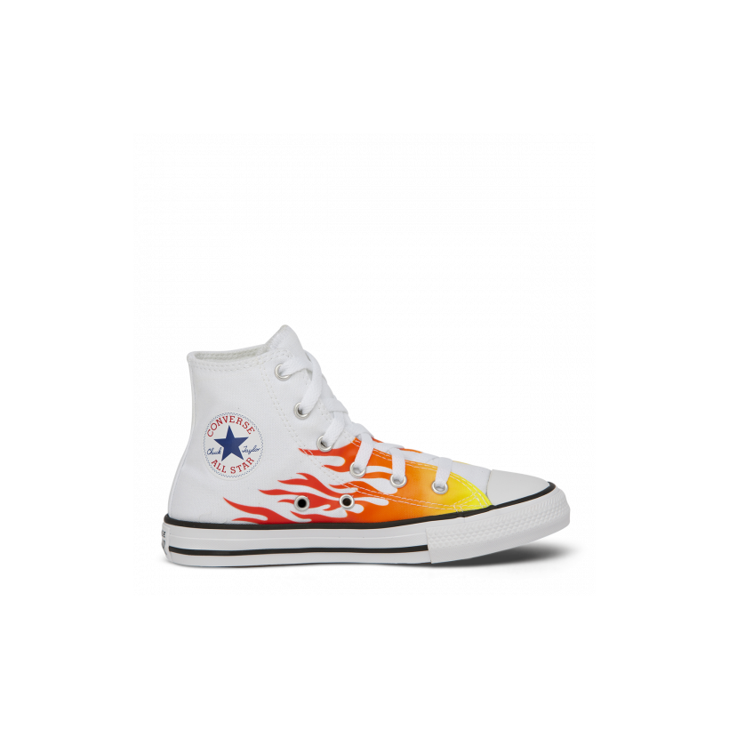 Chuck Taylor All Star Archive Flame Junior High Top White