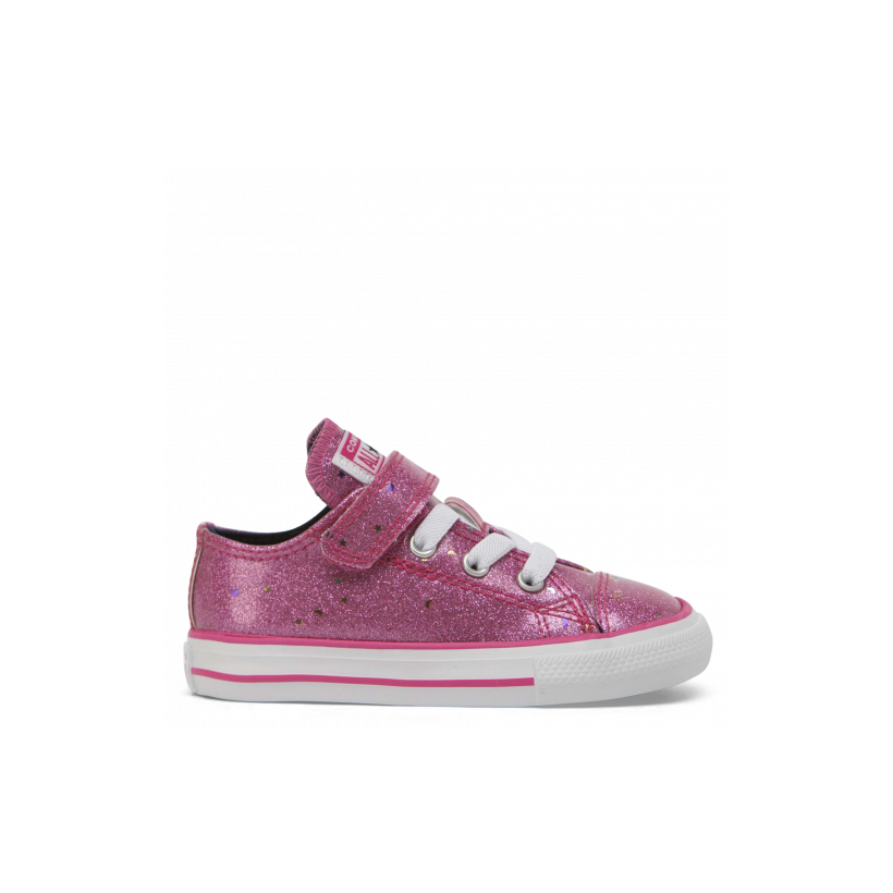 Chuck Taylor All Star Galaxy Glimmer 1V Toddler Low Top Mod Pink