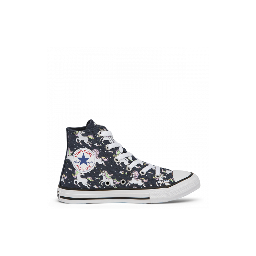 Chuck Taylor All Star Unicorns Junior High Top Navy