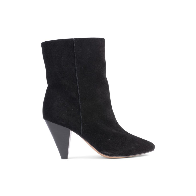 Cullen - Black Cow Suede by Siren Shoes