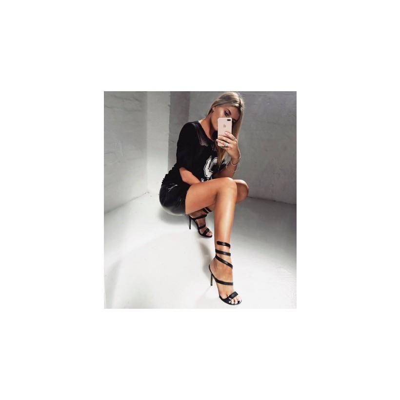 Dana - Black Kid by Siren Shoes