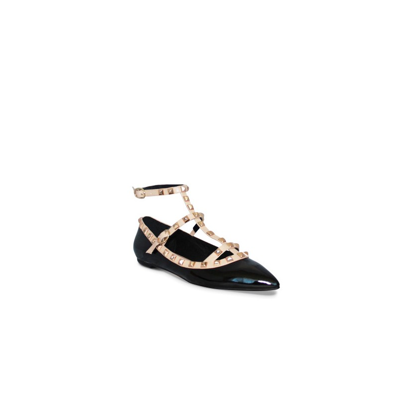 Delight - Black Patent/Nude by Siren Shoes