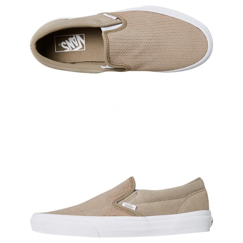 Womens Classic Slip On Shoe Desert Taupe By VANS