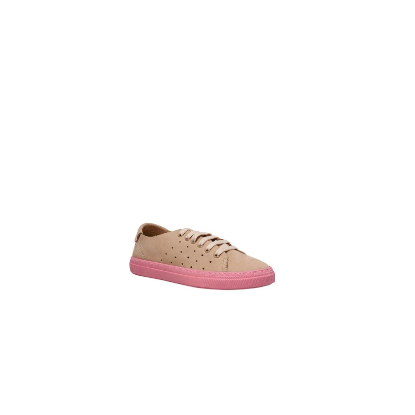 Dixie - Pink Nubuck by Siren Shoes