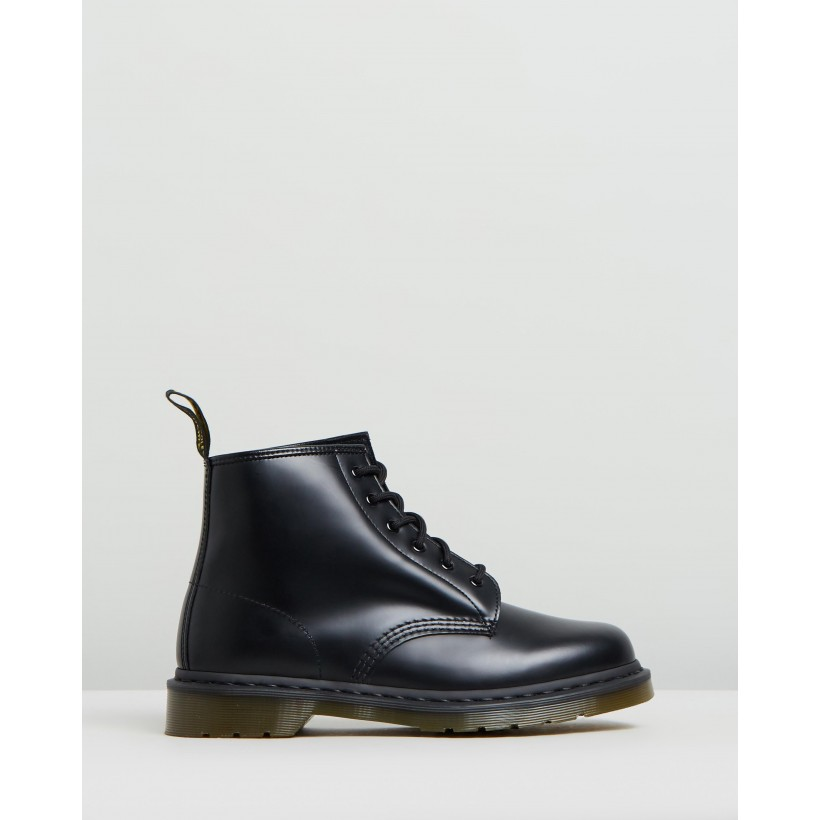 101 Smooth 6-Eye Boots - Women's Black Smooth by Dr Martens
