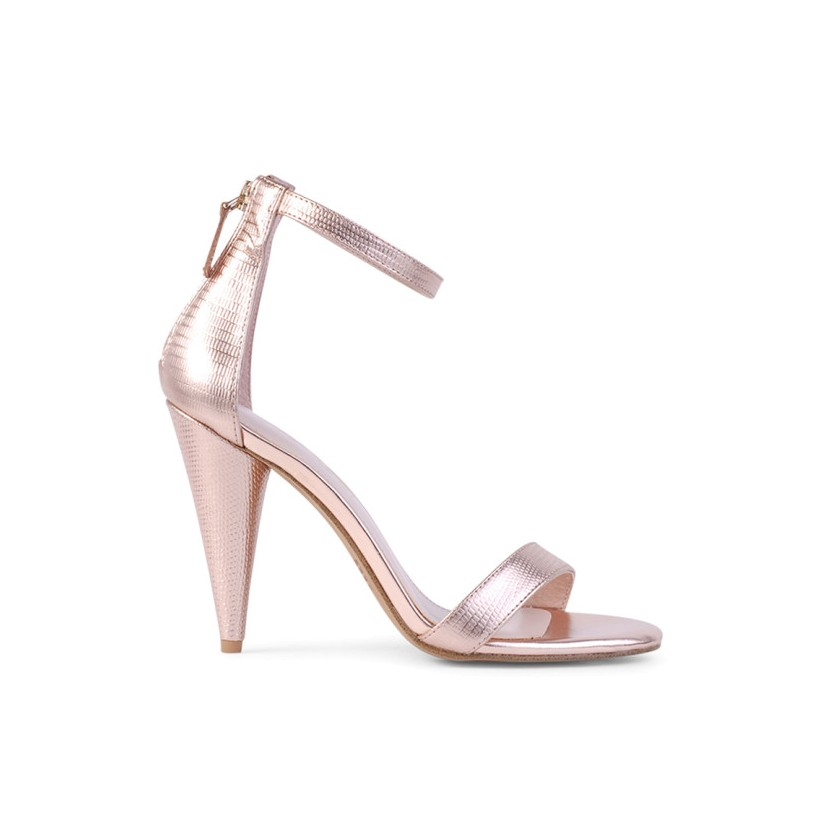 Emerson - Rose Gold Lizard by Siren Shoes