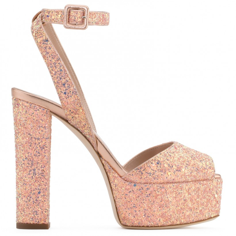 Betty Glitter - Pink - Platforms By Giuseppe Zanotti