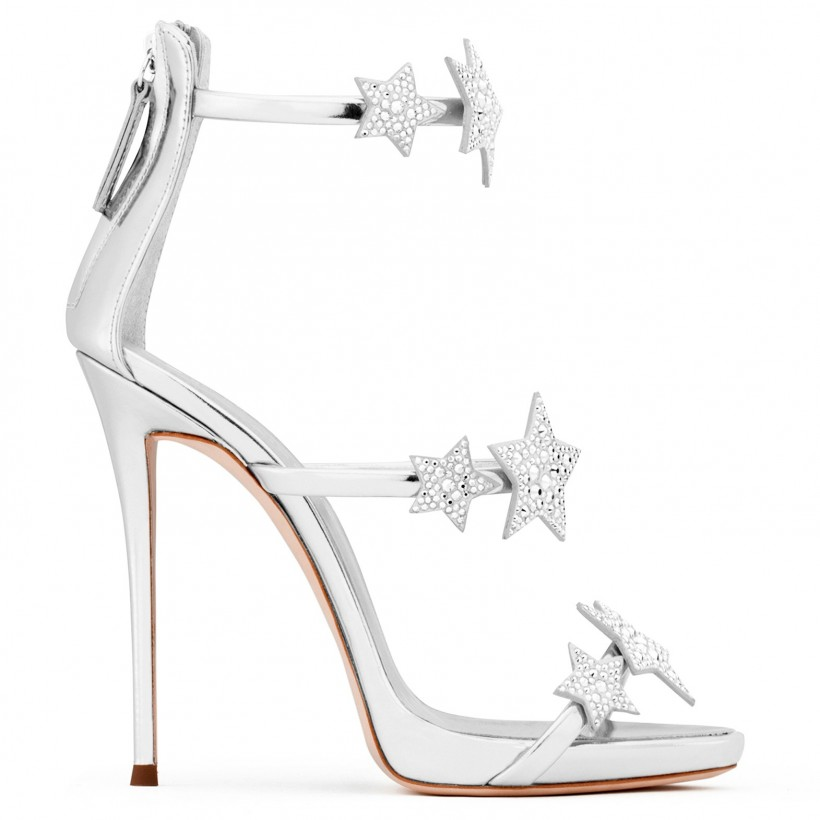 Harmony Star - Silver - Sandals By Giuseppe Zanotti