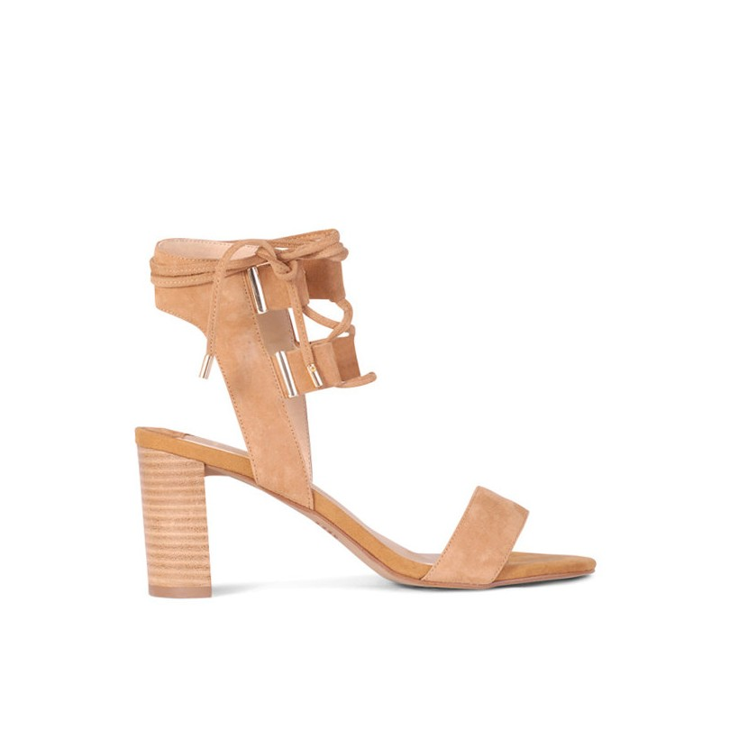 Flame - Tan Suede by Siren Shoes