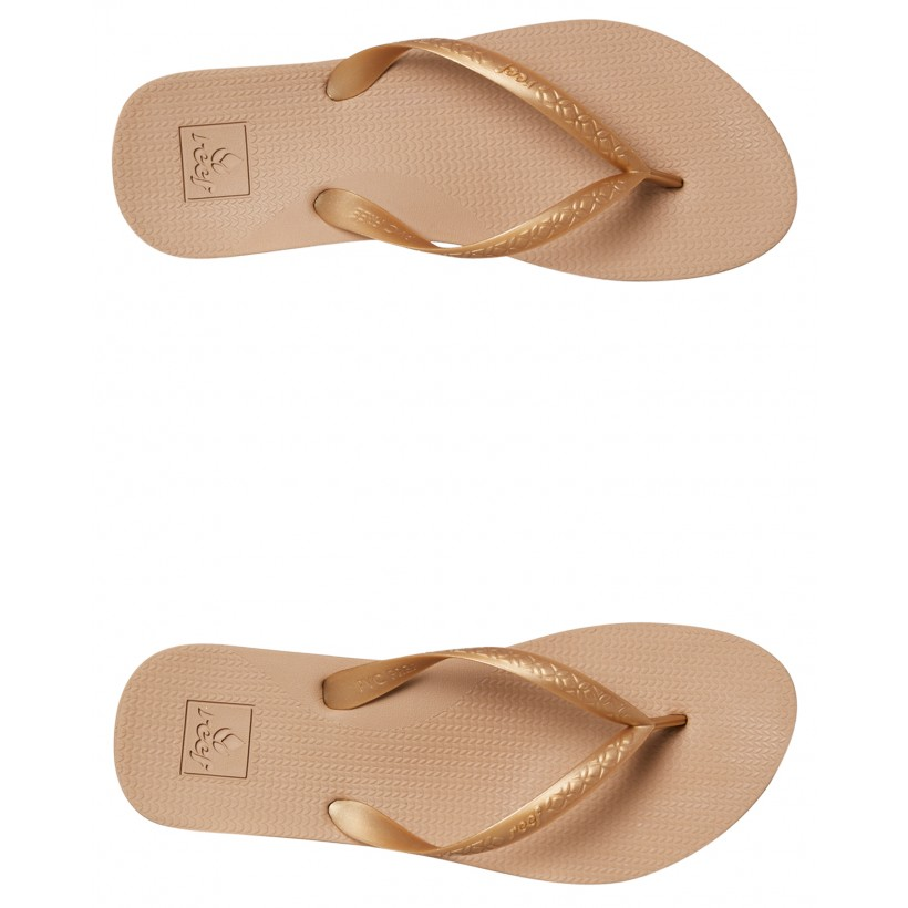 Womens Escape Lux Plus Thong Gold By REEF