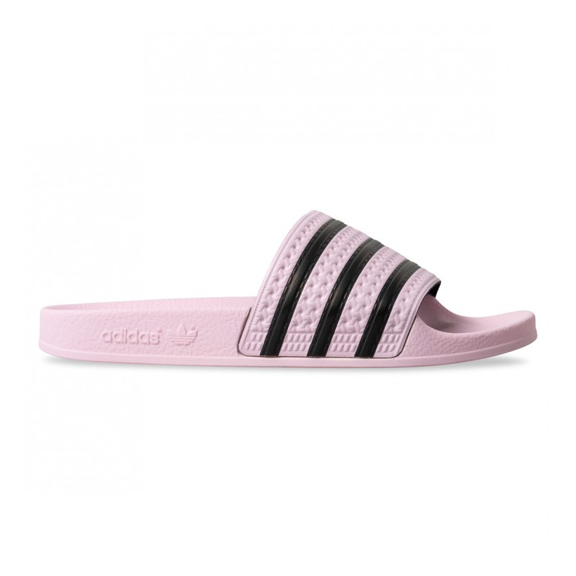 ADILETTE WOMENS Clear Pink Clear Pink Core Black