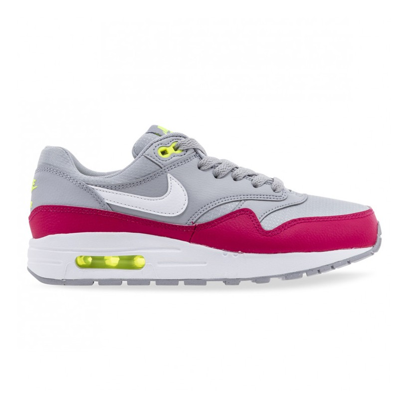 AIR MAX 1 YOUTH Wolf Grey White Rush Pink Volt