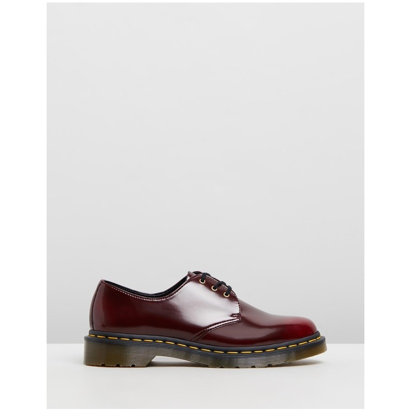 1461 Vegan - Women's Cherry Red by Dr Martens
