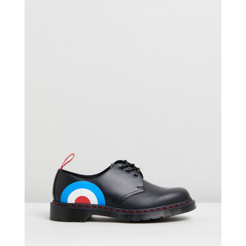 1461 WHO 3-Eye Shoes - Unisex Black by Dr Martens