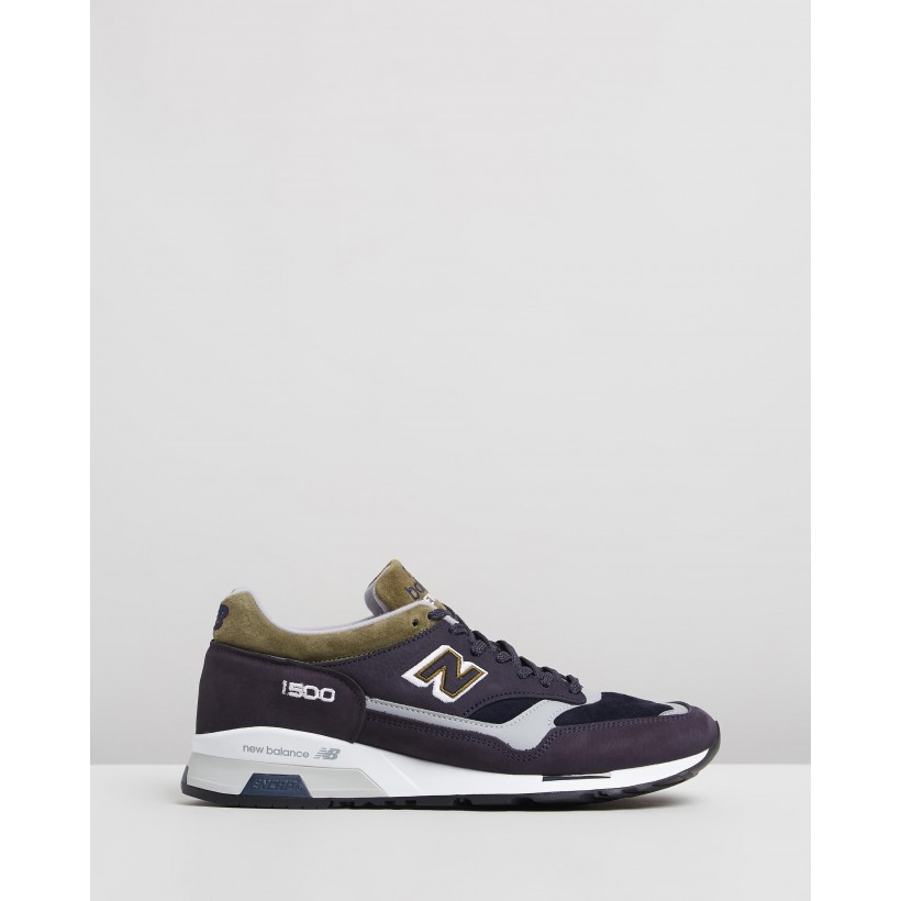 1500 MADE IN UK Navy & Green by New Balance Classics