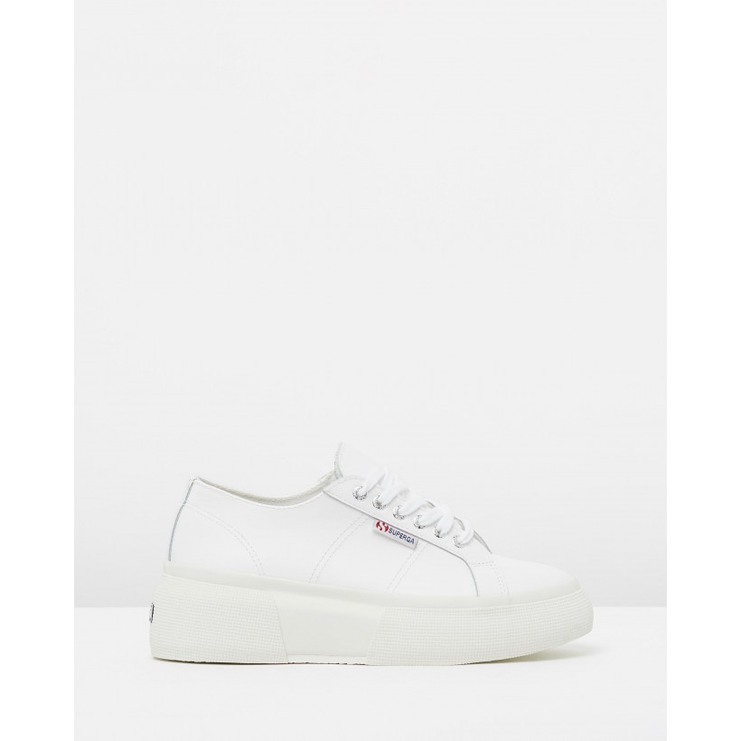 2287 Leather Nappa White by Superga